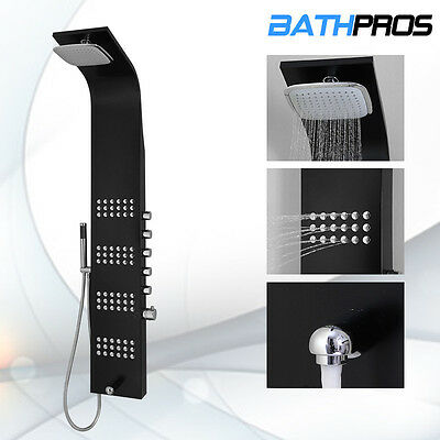 """Stainless Steel Thermostatic Control Valve Shower Head Panel Tower 59"""""""