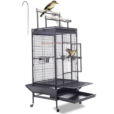 LARGE BIRD PARROT MACAW AVIARY CAGE COOP WIRE MESH BREEDING AFRICAN Stand&Whee