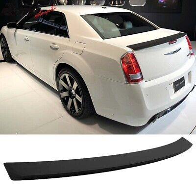 Matte Black Fits 11-19 Chrysler 300 300C ABS OE Style Trunk Spoiler - ABS