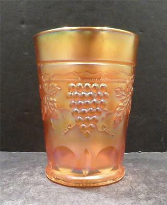 "Northwood Carnival Marigold Grape and Cable Tumbler - 4 1/8"" - MINT (A)"