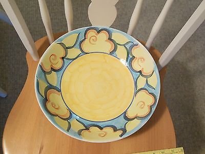 HERITAGE Hand Painted HUGE pasta salad serving bowl Artist's Touch Spring Accent