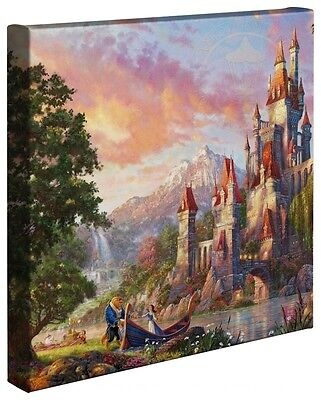 Thomas Kinkade Studios Disney Beauty and the Beast II 14 x 14 Gallery Wrapped