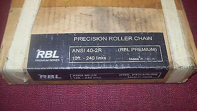 RBL 40-2R ANSI Preciion Roller Chain 10F 240 Links New
