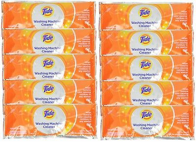 10 Tide Washing Machine Cleaner Odor Remover Single Use Pouches (No Box)