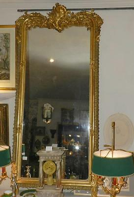 @ Rare & Important Grand Miroir de Cheminée en Haute Rocaille Second Empire  @