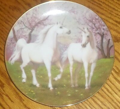 The Springtime Pasture Of The Unicorn Porcelain Collector Plate, Ruth Sanderson