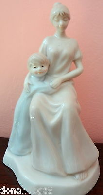 """Woman and Child Porcelain Figurine 6.25""""X3.38""""X3.8"""""""