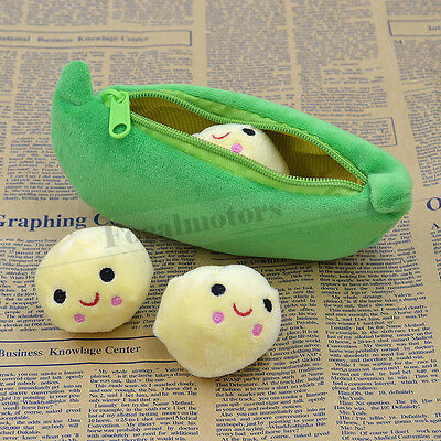 Cute 3 Peas In a Green Pod Plush Soft Stuffed Doll Toy Free Shipping New