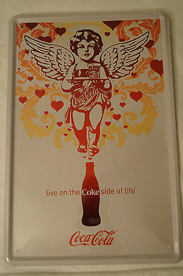 RETRO STYLE TIN SIGN - Coca-Cola - Live on the Coke side of life.