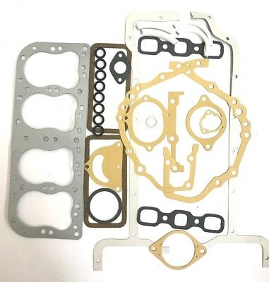New Full Gasket Set for Ford Tractor 2N 8N 9N Metal Head 8N6008M Engine Overhaul