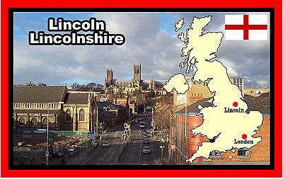 Lincoln, Lincolnshire - Souvenir Novelty Fridge Magnet - Sights / Towns / Gifts