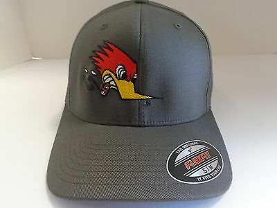 Clay Smith Cams Charcoal Grey Hat Mr Horsepower Woodpecker Rat Rod Cap S/m New