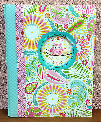 CR Gibson Dena HAPPI Owl Baby Girl Memory Keepsake Book 1st 5 Yrs Pink Paisley