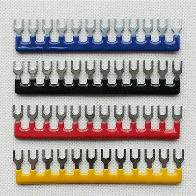 5Pcs 12 Postions 400V 10A Pre Insulated Terminal Barrier Strip TB1512 hotsale