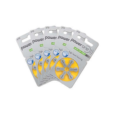 Power One High Level Hearing Aid Batteries (QTY 30)  Size 10