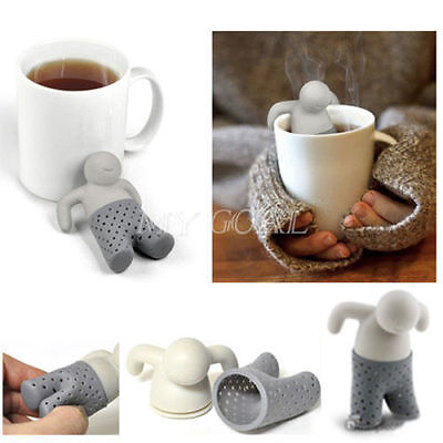 Mr.Tea Infuser Silicone Loose Leaf Strainer Herbal Spice Filter Diffuser Keyring