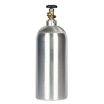10 lb CO2 Cylinder New Aluminum FREE SHIPPING - Fresh Hydro-Test - CGA320 Valve