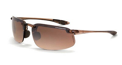 Radians 211125 Safety Glasses Crossfire HD Brown Flash Mirror Lens Brown Frame