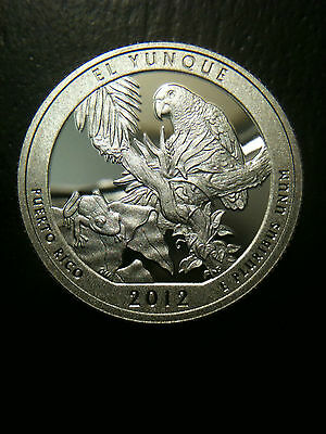 2012 S Proof EL YUNQUE NATIONAL PARK QUARTER DOLLAR Clad NO SILVER GEM MINT DCAM