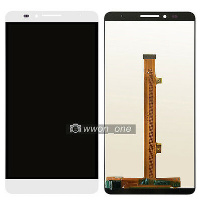 White LCD Display Digitizer Touch Screen Assembly Huawei Ascend Mate 7 MT7-TL10