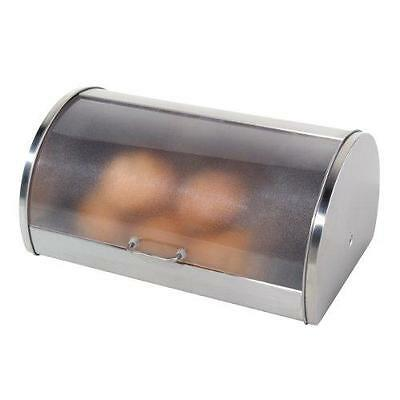 Oggi 7051 Stainless Steel Roll Top Bread Box New
