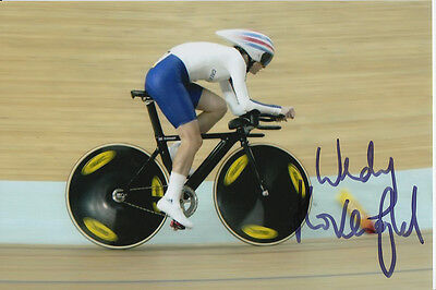 Wendy Houvenaghel Hand Signed Great Britain 6X4 Photo Beijing 2008 6.