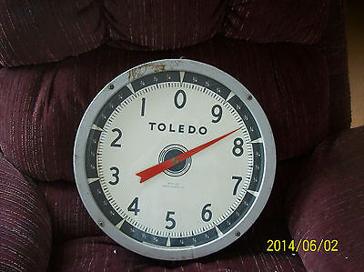 Toledo Model 2110 Hanging Scale 30 lb Capacity 1952 Antique w/ Glass Works