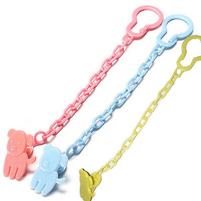 2 Baby Dummy Pacifier Soother Nipple Chain Clip Buckle Holder Toddler Toy IDXX