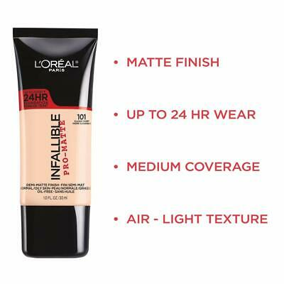 (1) L'oreal Paris Infallible Pro-Matte 24Hr Foundation, You Choose!