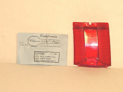 "1964 El Camino Tail Lamp Lens Right side  ""Guide"" Show Quality"