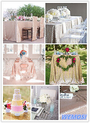 2015 New ! Sequin Tablecloth 3ft to 8ft Rectangular for Wedding/ Dessert Table