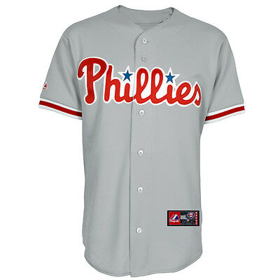 MLB Baseball Trikot Jersey PHILADELPHIA PHILLIES - Road grau - von Majestic