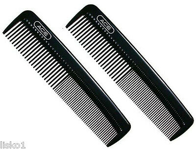 "Ace 61586 Hard Plastic 5"" barber pocket comb 2-combs"