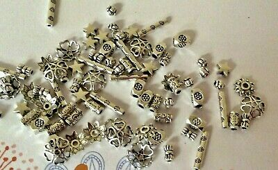 Lot of 100 Tibetan Silver Assorted Metal Bead Caps, Spacer Beads Jewelry Finding