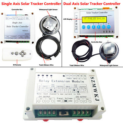 Complete Electronic Single/Dual Axis Solar Tracking Controller for Sun Tracker