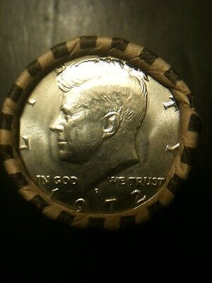 1972 D Kennedy 50c AU/BU Half Dollar Roll 50 Cent Mint Clad US Coin
