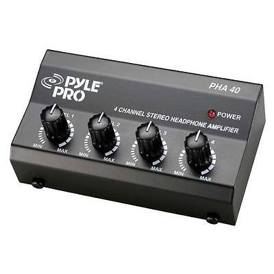 Pyle-Pro 4-Channel Electronic Audio Stereo Headphone Amp Accessory, New