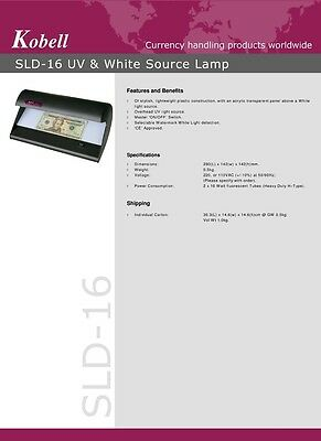 Sld16 Uv Counterfeit Fake Banknote Money Forgery Detector Fake Detection