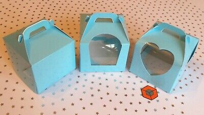 10 or more Premium Single Cupcake Boxes - Light Blue ~~~STAR BUY~~~