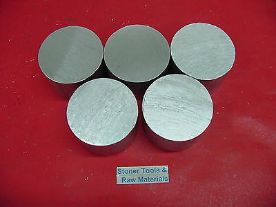 """5 pieces 1-1/2"""" ALUMINUM 6061 ROUND BAR 3.5"""" LONG T6511 Solid Rod Lathe Stock"""