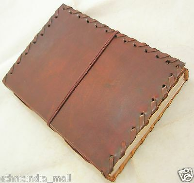 Handmade Paper Leather Bound Journal Blank Diary Writing Notebook Sketchbook Art