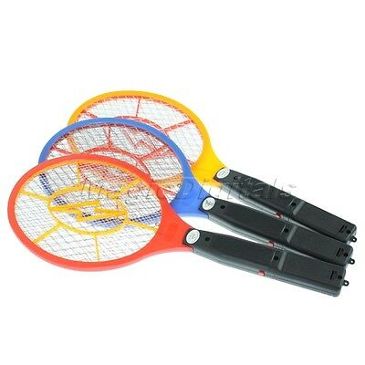 Bug Zapper Racket Electronic Mosquito Fly Swatter Insects Electic Bat Handheld