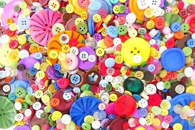 100 Mixed Buttons Asst Sizes Colours Art Craft Sewing Cardmaking Embellishments