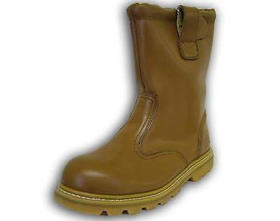 Mens High Steel Toe Cap Safety Foot Protection Rigger Work Boots - Size 10