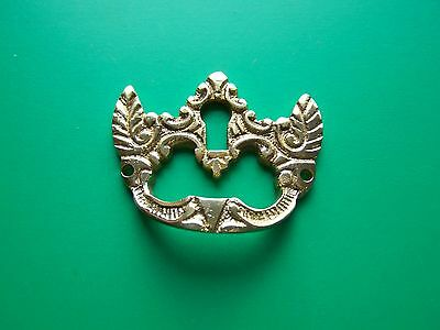 Keyhole Cover Plates Escutcheons Finger Pull Slant Top Desk Pull Antique Style