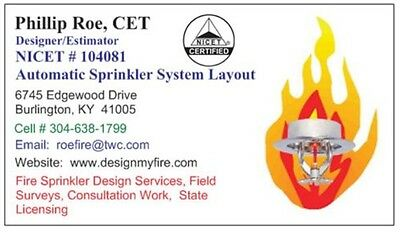 Nicet 3 Fire Sprinkler Design - AutoCAD - Freelance or Licensing Fire Protection