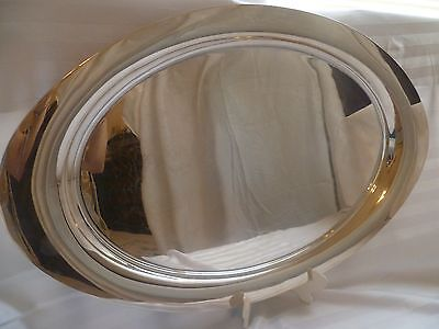Reed & Barton 25 inch oval silver plate waiter tray