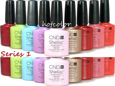 CND Shellac Gel Polish Full Collection *Series 1 /Choose Any Color Base Top Coat