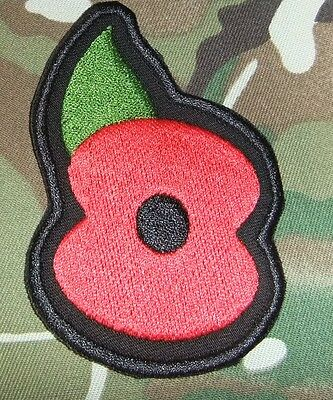 Es0102   Airsoft Military Embroidered  Poppy  Patch