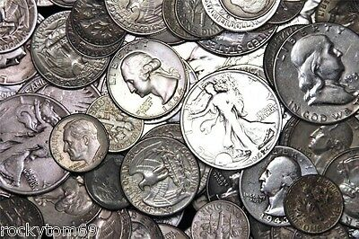 $10.00 Face Value Dimes, Quarters and Half Dollars Mixed 90% Silver USA Coins